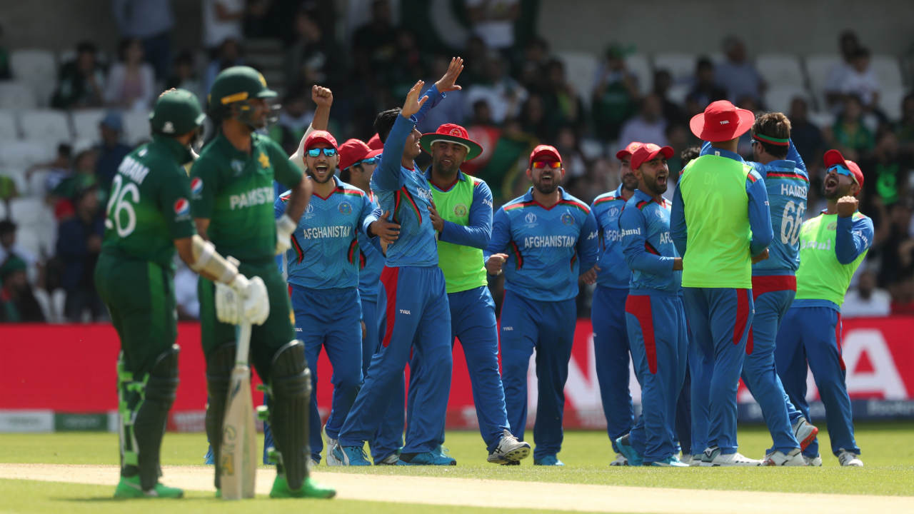Defending 227, Afghanistan started strong as Mujeeb Ur Rahman trapped Fakhar Zaman LBW on just the second delivery of the Pakistan's innings. Fakhar was out on a duck. (Image: Reuters)