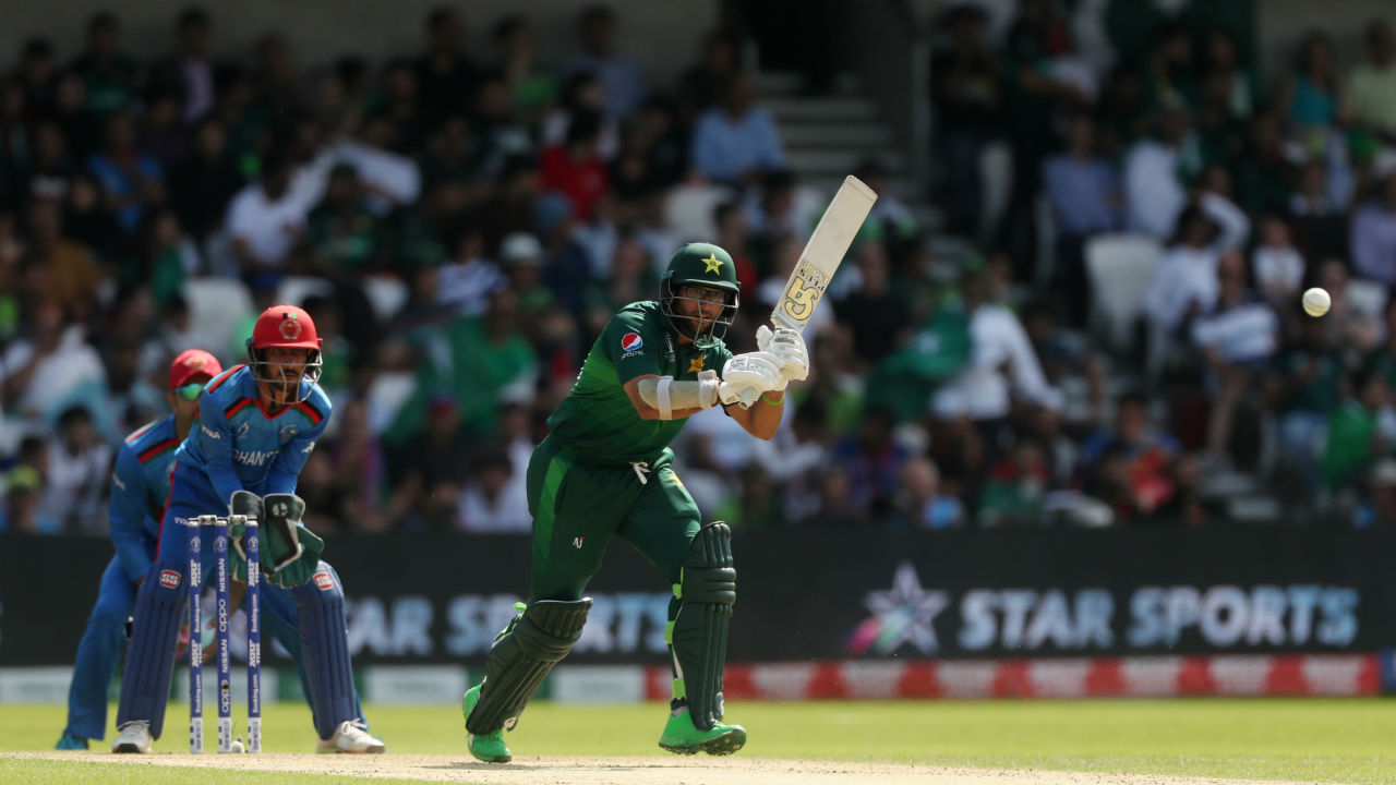 After Fakahar's early wicket, Imam-ul-Haq and Babar Azam stitched a 72-run partnership. Mohammad Nabi got Haq stumped in the 16th over. Haq made 36 off 51 as Pakistan were 72/2. (Image: Reuters)