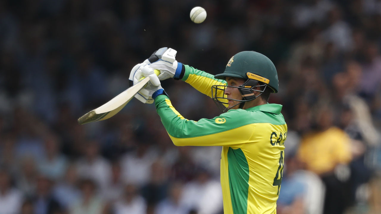 Australian wicket keeper Alex Carey played a brisk innings of 38 off 27 and remained not as England restricted Australian on 285/7. (Image: AP)