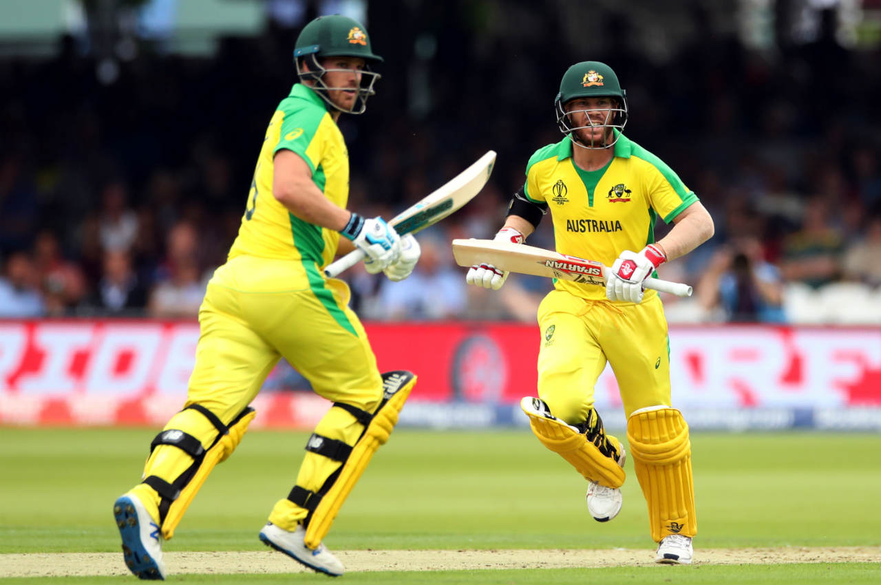 Aaron Finch and David Warner gave Australia a flying start as the two put up a 123-run opening partnership. During the course of the partnership, Warner notched up a fifty. (Image: Reuters)