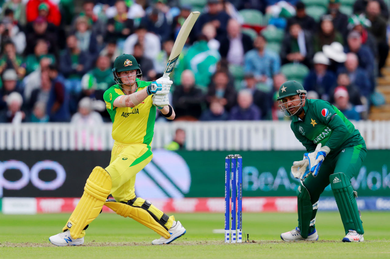 Steve Smith played a knock of just 10 from 13 balls before Mohammad Hafeez dismissed the former Australian skipper in the 29th over. (Image: Reuters)