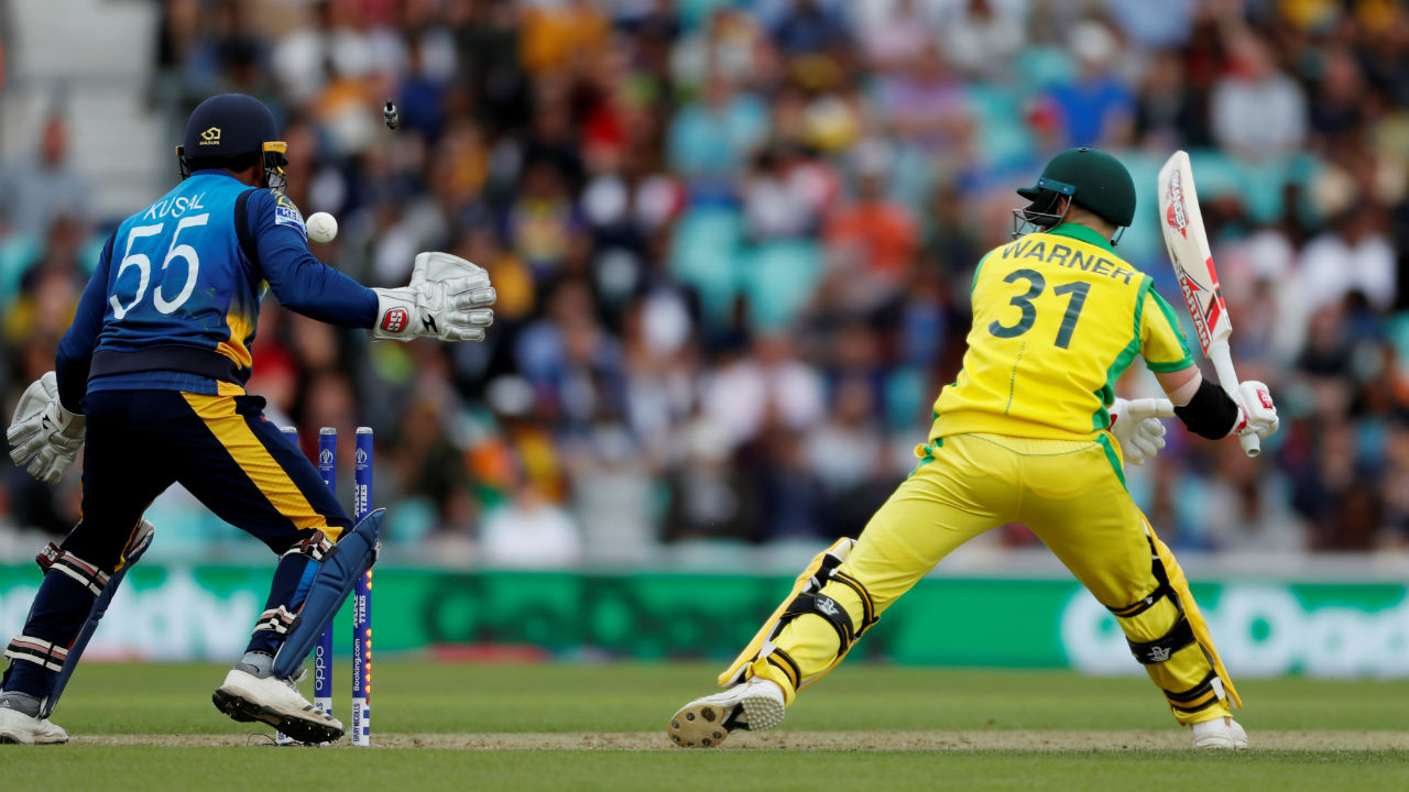 Warner was slow in his innings of 26 and was clean bowled by spinner Dhananjaya de Silvain the 17th over. (Image: Reuters)