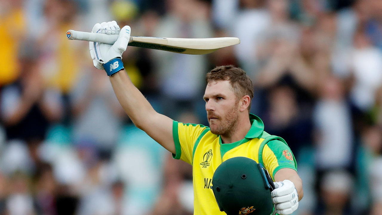 Finch continued his good run of form with the bat and completed his century in the 33rd over with a stylish six against Milinda Siriwardana. (Image: Reuters)