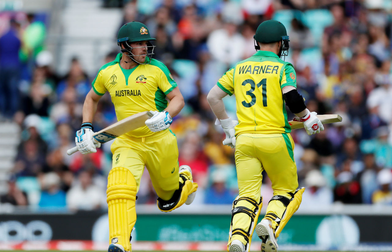 Australian opening pair of David Warner and Aaron Finch were off to a solid start as the two batsmen put up a partnership of 80 runs. (Image: Reuters)