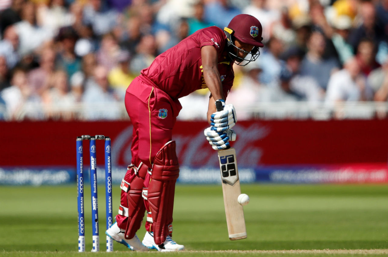 Nicholas Pooran played a fast innings of 40 from 36 balls and struck a partnership with Shai Hope as the two batsmen construed the West Indies innings. Pooran was caught by Finch at point off the bowling of Adam Zampa in the 20th over. West Indies were 99/3 at the loss of Pooran's wicket. (Image: Reuters)