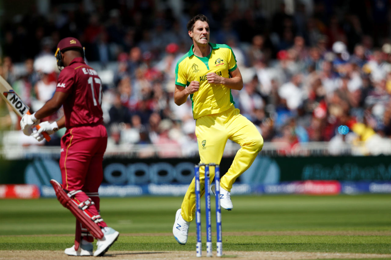 West Indies started the chase on wrong note as Pat Cummins dismissed Evin Lewis in just the second over. Lewis made just one. (Image: Reuters)