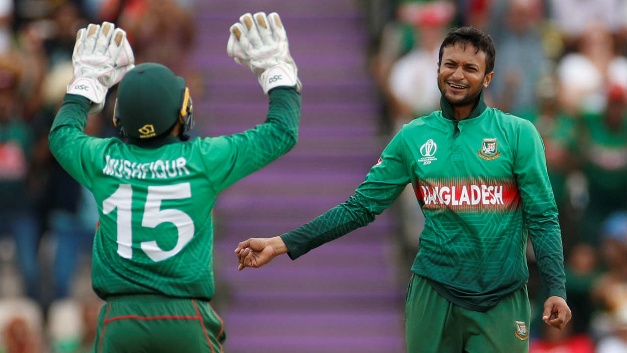 Afghanistan were beginning to rebuild again with former captain Asghar Afghan and current skipper Naib at the crease. Shakib then returned for his second spell and got rid of Naib (47 off 75 balls) and Mohammad Nabi (0) in the 29th over. He also dismissed Afghan (20 off 38 balls) in the 33rd over to take the leave Afghanistan deflated. (Image: Reuters)