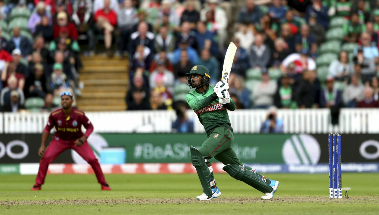 Liton Das gave Shakib great company in the middle and hit a completed his fifty in the 35th over. Das remained not out on 94 from 69 balls as Bangladesh cruised to win in 41.3 overs. (Image: AP)