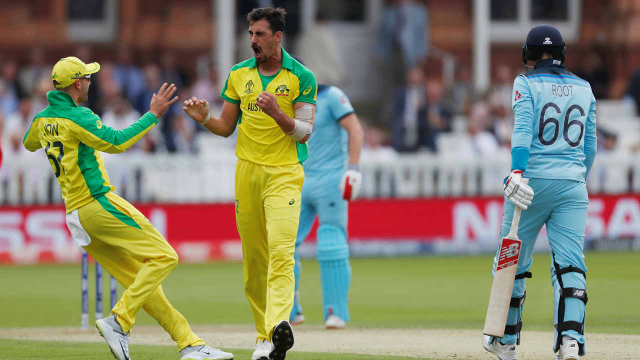 There was more agony in store for the home side as Mitchell Starc trapped Joe Root LBW in the fourth over. Root made 8 off 9 as England were struggling at 15/2. (Image: Reuters)