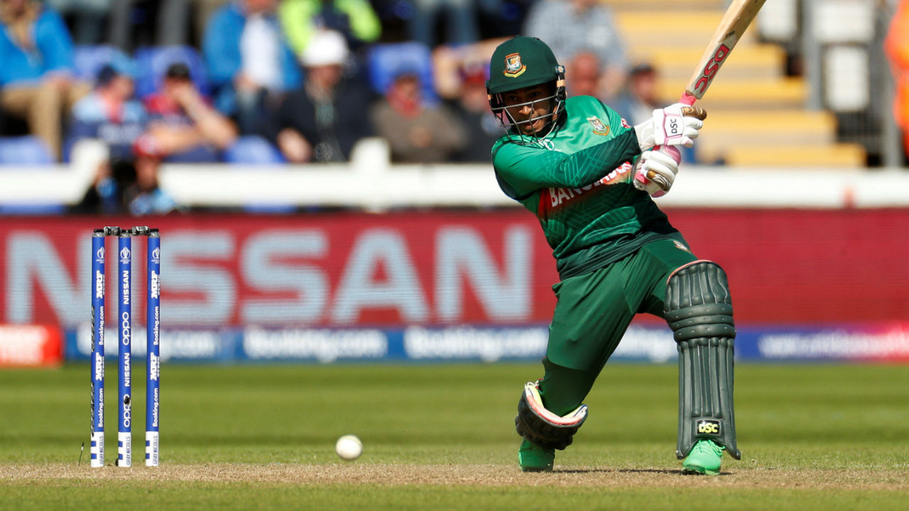 Mushfiqur Rahim then struck a 106-run partnership along with Shakib as the two batsmen rebuilt the Bangladeshi innings after early blow. Mushfiqur played a steady knock of 44 from 50 balls before he was caught by Roy of a Liam Plunkett delivery in the 29th over. (Image: Reuters)