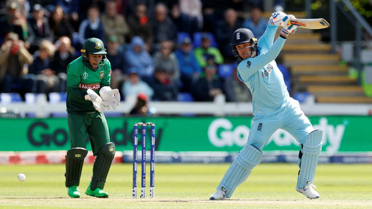 England openers Jason Roy and Jonny Bairstow were off to a brisk start as the two batsmen slammed 67 runs in opening 10 overs. (Image: Reuters)