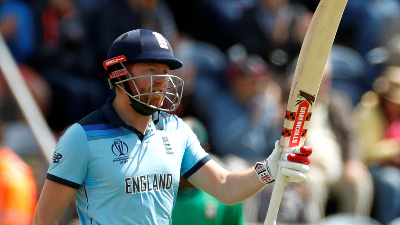 Bairstow completed his fifty in the 19th over as the two England openers continued to punish helpless Bangladeshi bowlers. (Image: Reuters)