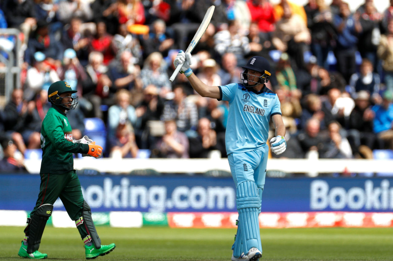 Jos Buttler continued Roy's good work and played yet another blistering innings to complete a quickfire fifty in the 43rd over. The English wicket-keeper was dismissed by Mohammad Saifuddin in the 46th over. Buttler made 64 off 44 balls. (Image: Reuters)