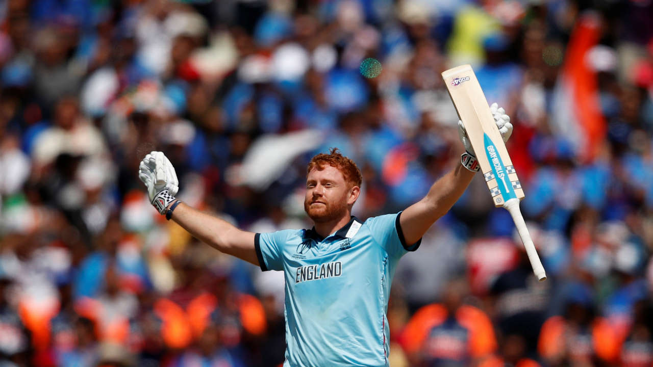 Bairtswo completed his first World Cup hundred with a single off a Hadik Pandya delivery in the 26th over. (Image: Reuters)