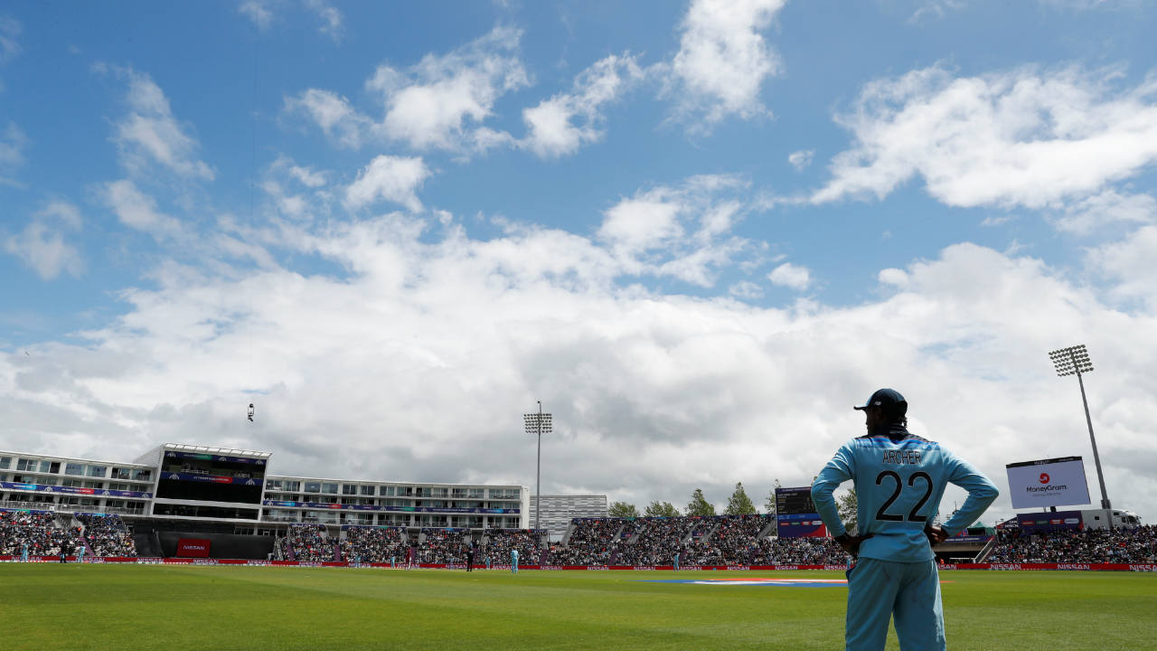 England and West Indies squared off for match 19 of the ICC Cricket World Cup 2019 at The Rose Bowl, Southampton. Eoin Morgan won the Toss and opted to bowl. England named an unchanged side while Windies made 3 changes with Evin Lewis, Andre Russell and Shannon Gabriel coming in for Darren Bravo, Ashley Nurse and Kemar Roach. (Image: Reuters)