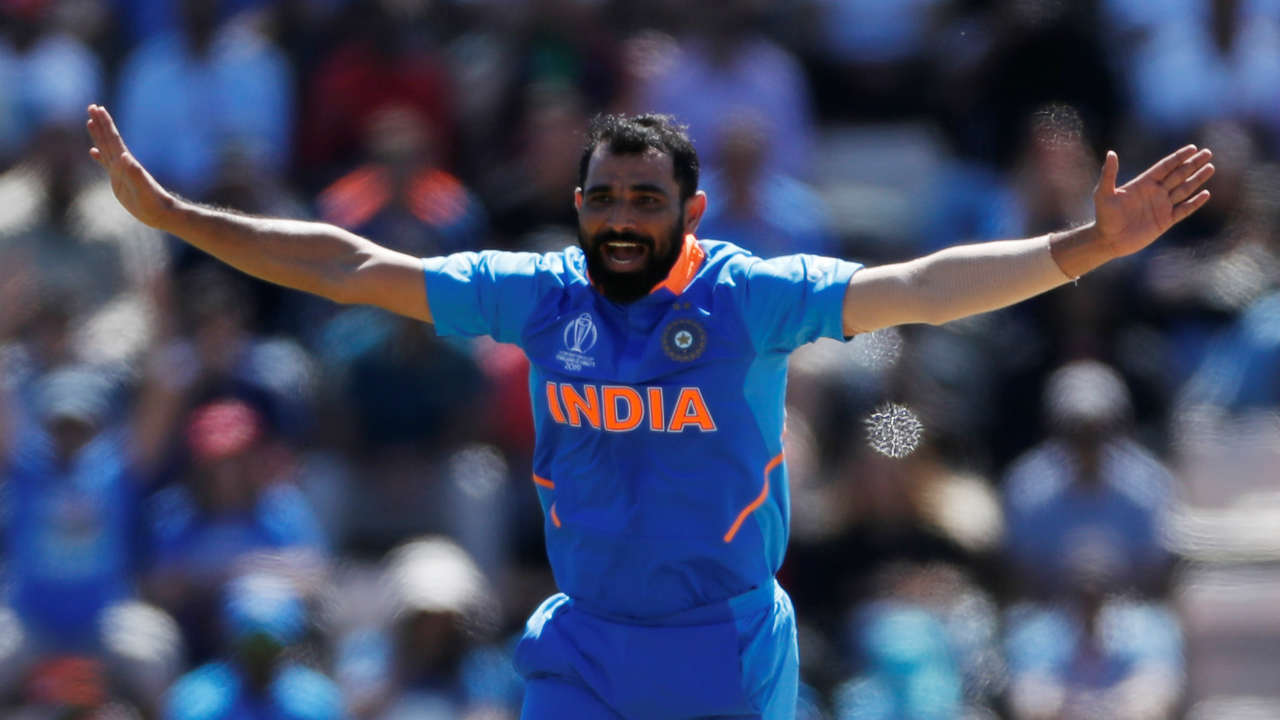 Defending a modest 224, Shami clean bowled Afghanistan opener Hazratullah Zazai in the 7th over. Zazai struggled to score against the pace of Shami and Jasprit Bumrah and was out after scoring 10 off 24 balls. Afghanistan were 20/1 when Zazai departed the scene. (Image: Reuters)