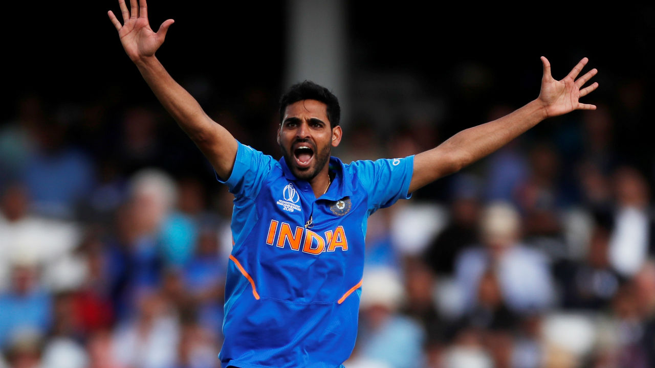 Bhuvneshwar bowled a superb 40th over in which he first trapped Smith in front of the wickets and then castled Marcus Stoinis. Smith made 69 while Stoinis was dismissed on duck. Australia were reeling at 238/5 when Stoinis walked back. (Image: Reuters)