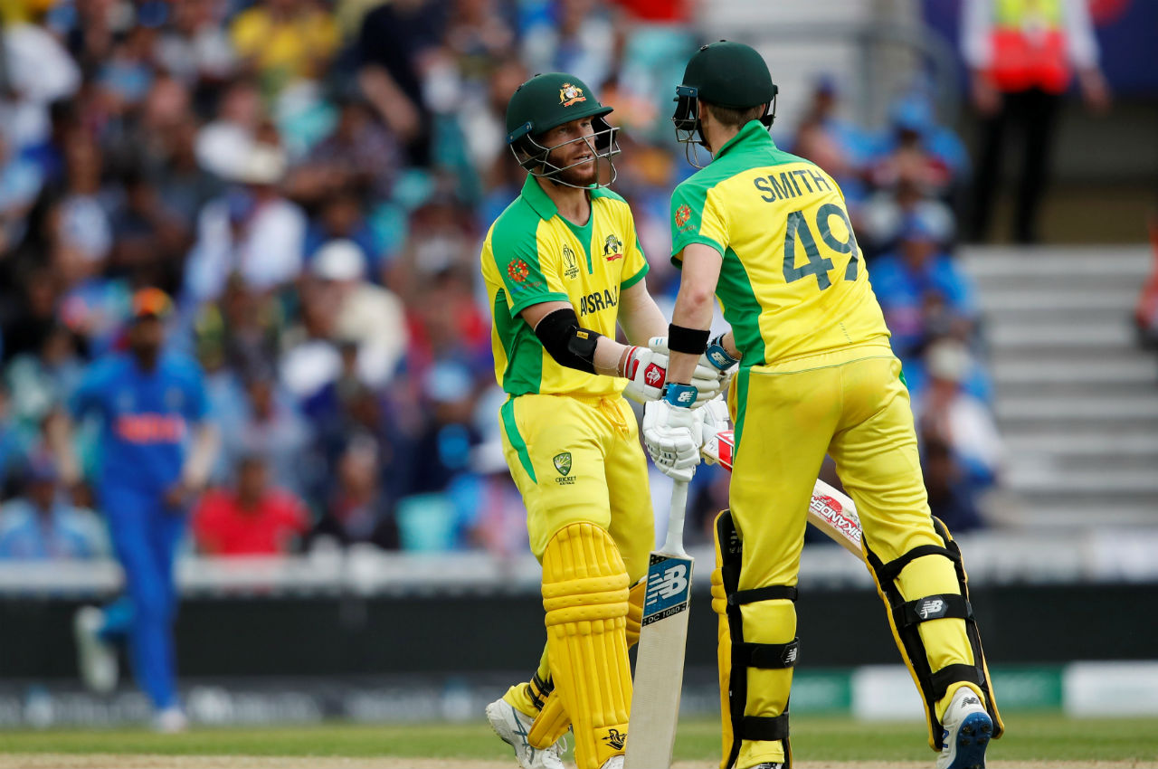 Warner continued to bat well and completed his fifty in the 22nd over. (Image: Reuters)