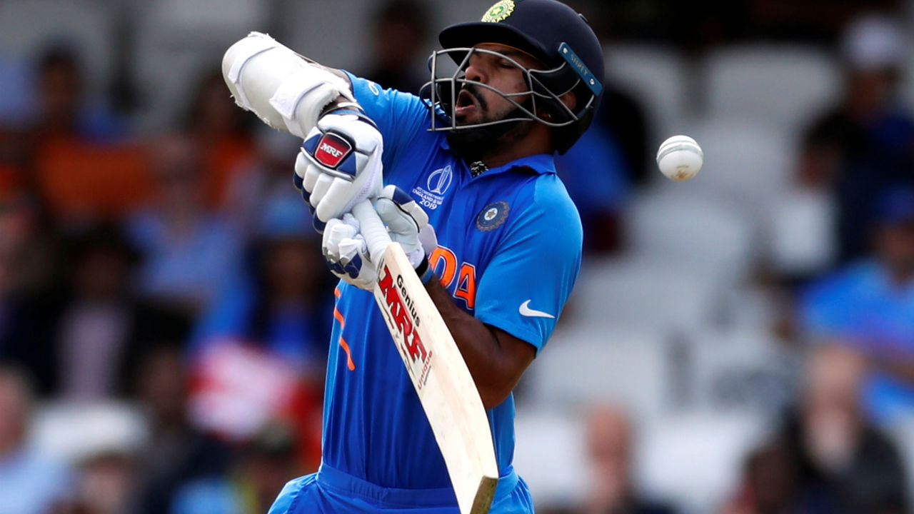 Indian openers Shikhar Dhawan and Rohit Sharma had to deal with short ball from Mitchell Stac and co. but the two batsmen were scored steadily. India were 41/0 after 10 overs. (Image: Reuters)