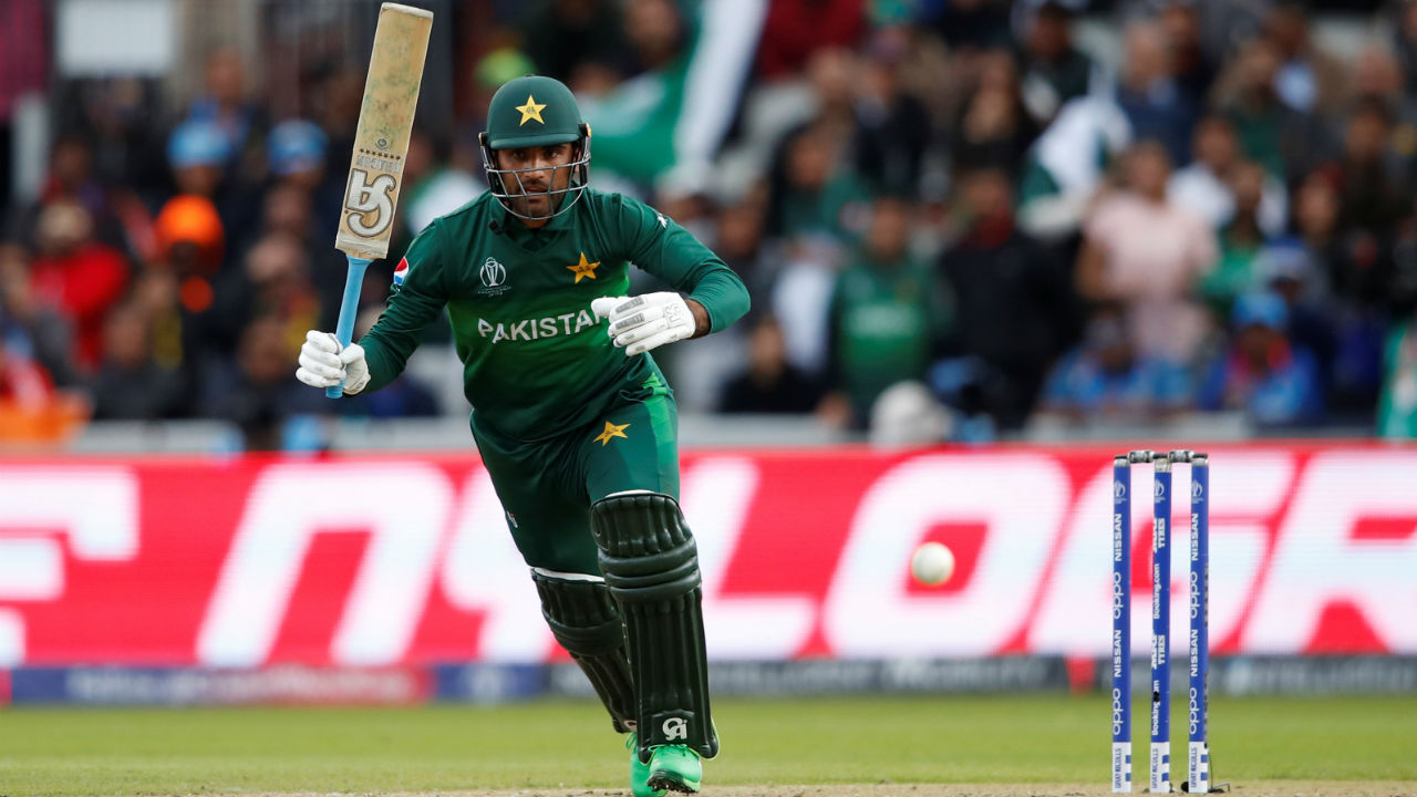 Fakhar Zaman stitched a 113-run partnership with Babar Azam to stabilize the chase. During the course of the partnership Fakhar completed his fifty. (Image: Reuters)