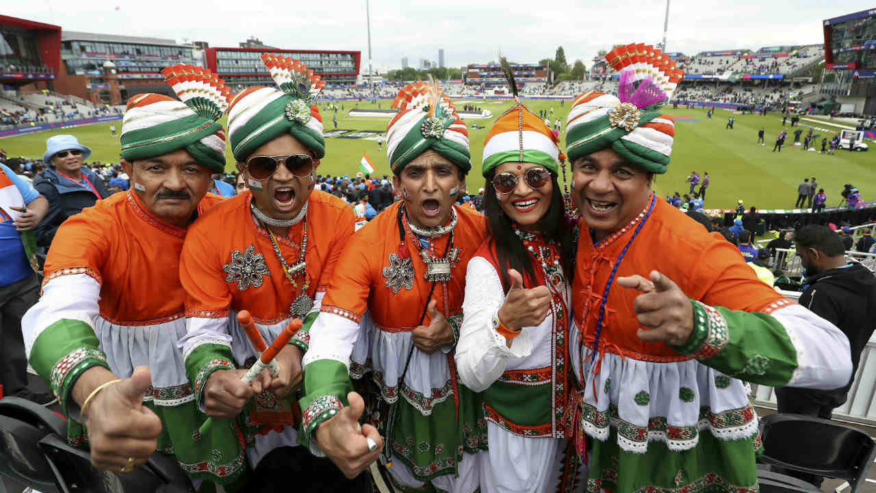 India and Pakistan squared off for cricket's biggest rivalry at the World Cup in match 22 played at Old Trafford, Manchester. The fans were in high spirits inside the stadium ahead of the big-ticket encounter. (Image: AP)