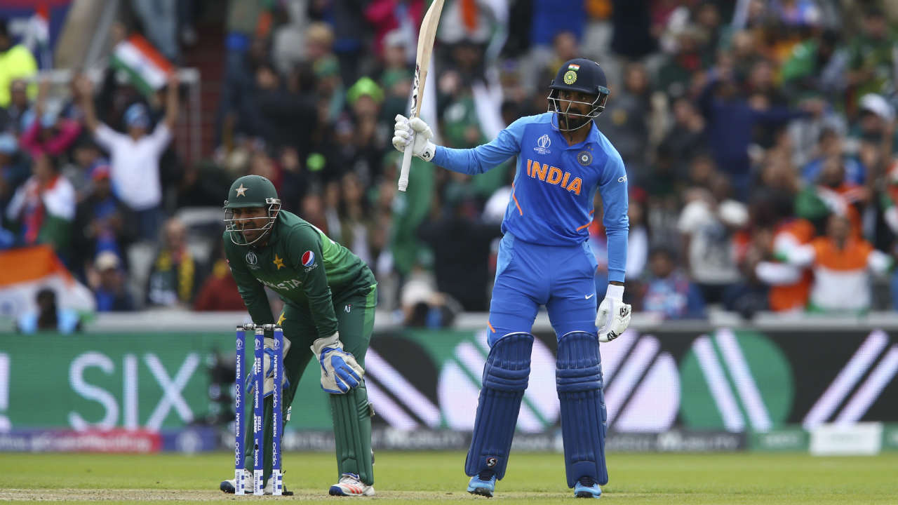 While Rohit plundered runs from the other end, Rahul anchored the innings bringing up his fifty off 69 balls with a six off Shoaib Malik in the 22nd over. (Image: AP)
