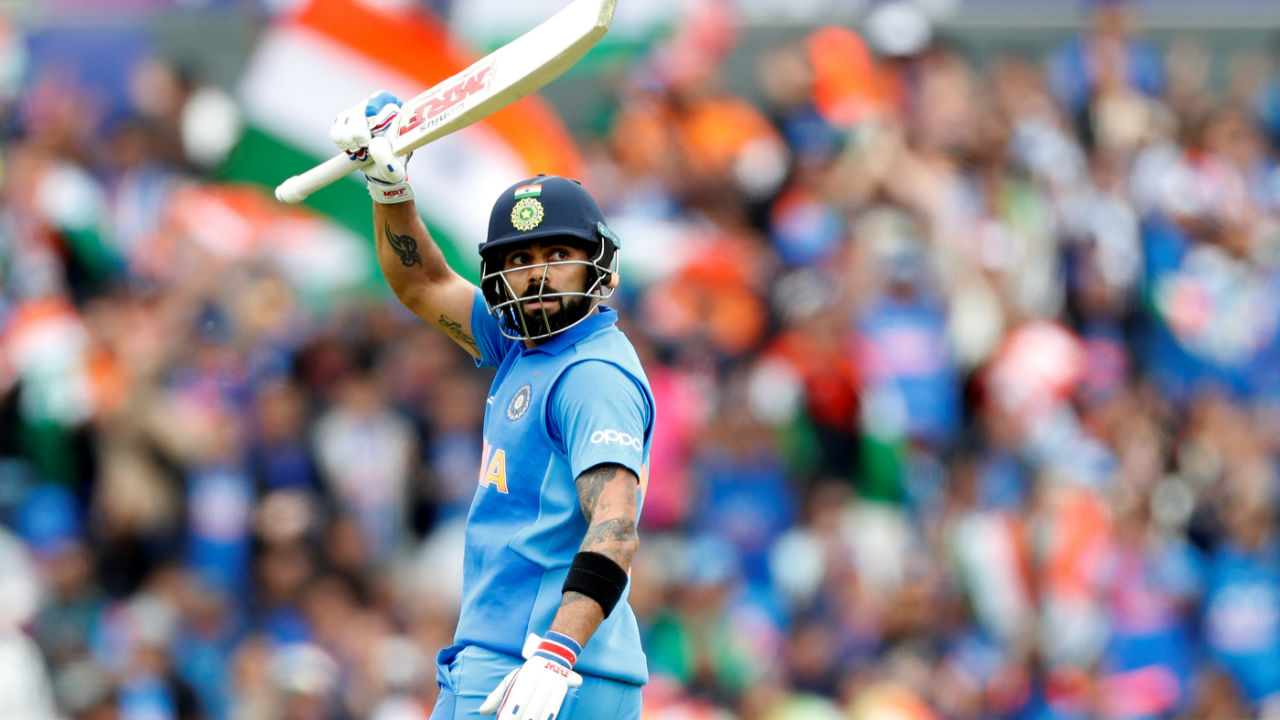 Kohli played well from the other end and completed his 50 in the the 44th over. (Image: Reuters)