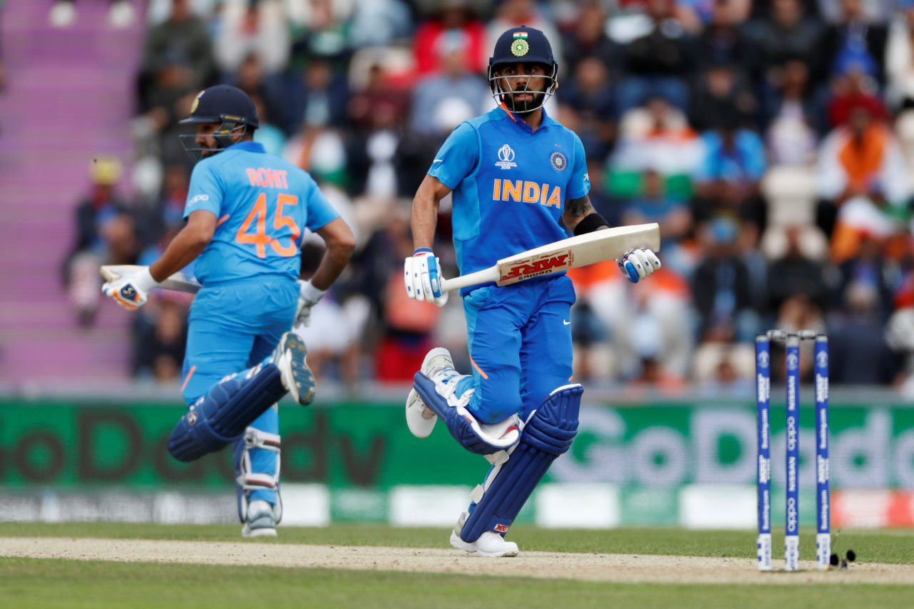 After Dhawan's wicket, Rohit Sharma then stitched a 41-run partnership with Kohli as the two batsmen went about constructing India's chase. (Image: Reuters)