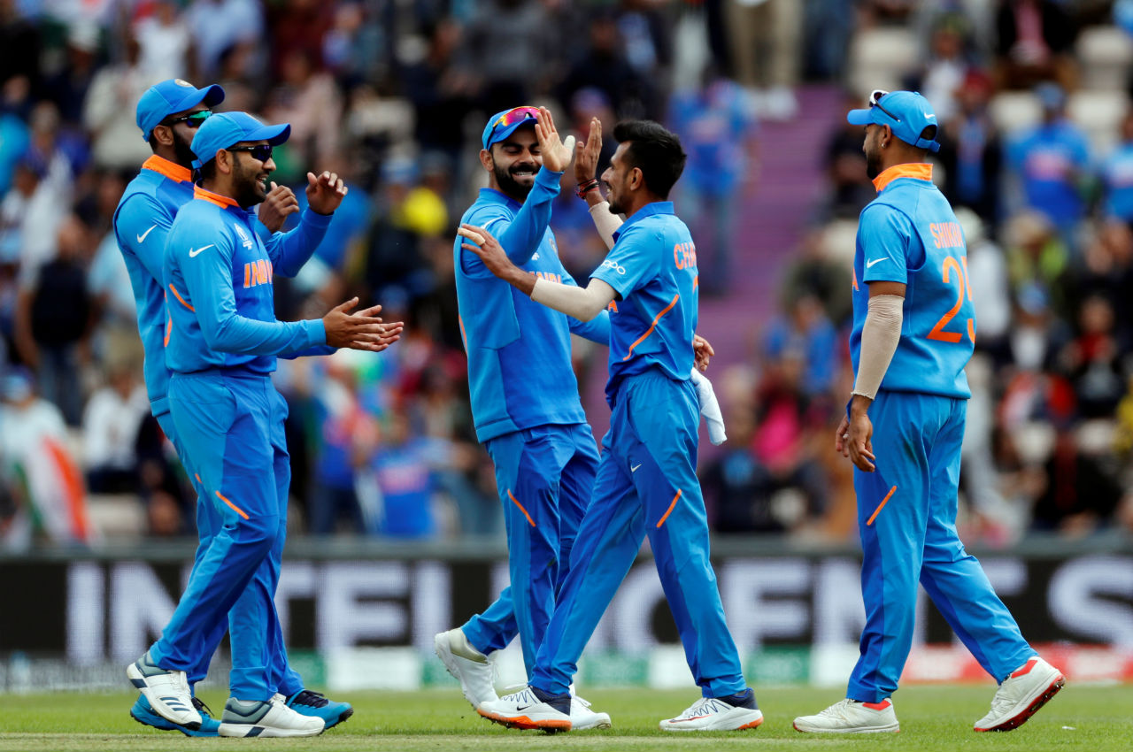 Yuzvendra Chahal then clean bowled the two batsmen in the 20th over. du Plessis made 38 while van der Dussen scored 22 as the Proteas were struggling at 80/4. (Image: Reuters)