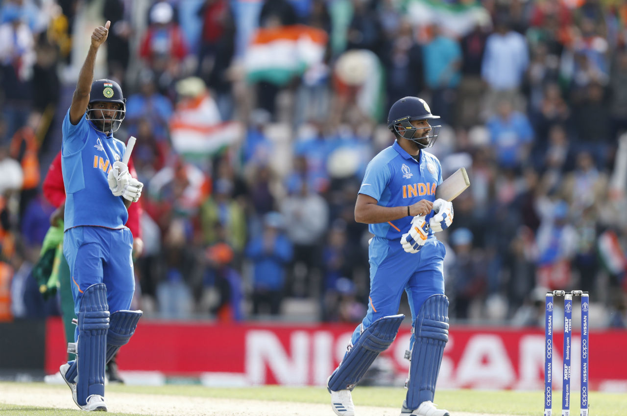 With Dhoni gone, Hardik Pandya played a cameo of 15 off 7 balls to guide India to a comfortable 6 wicket win. Rohit was adjudged the Player of the Match. (Image: AP)
