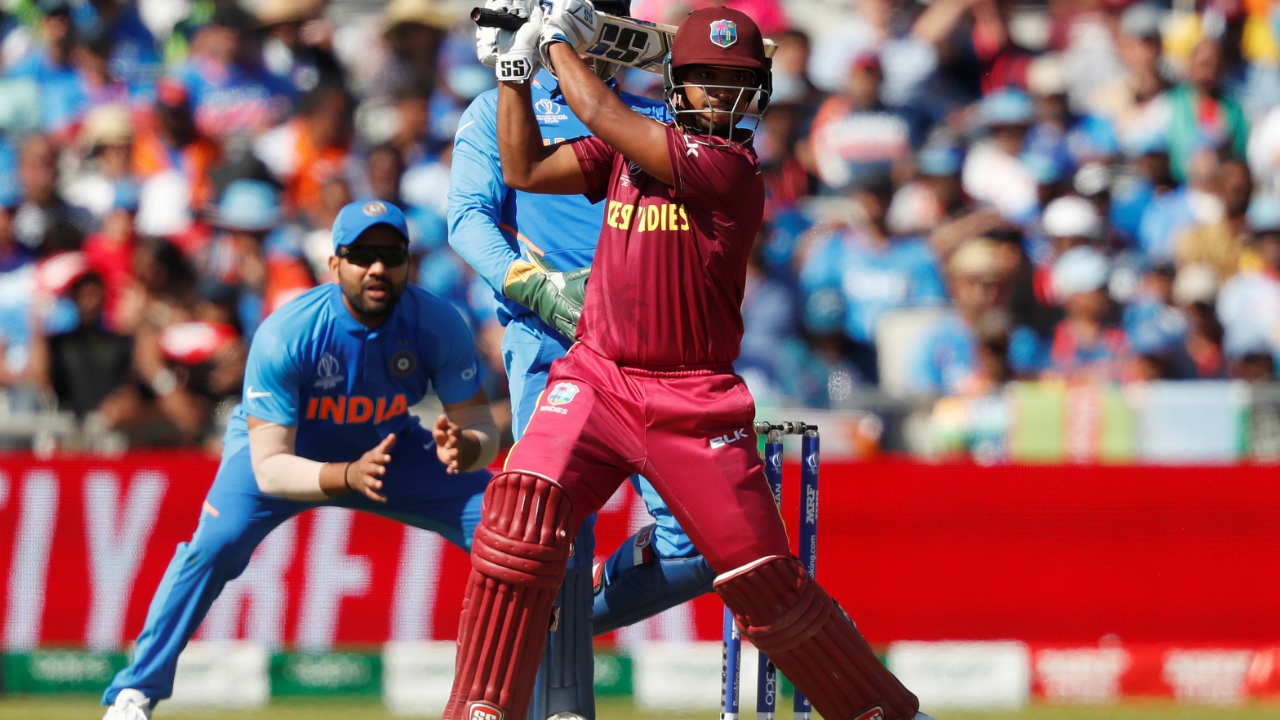 Nicholas Pooran scored 28 off 50 before Kuldeep Yadav dismissed the left-hander in the 21st over. West Indies were struggling at 80/4. (Image: Reuters)