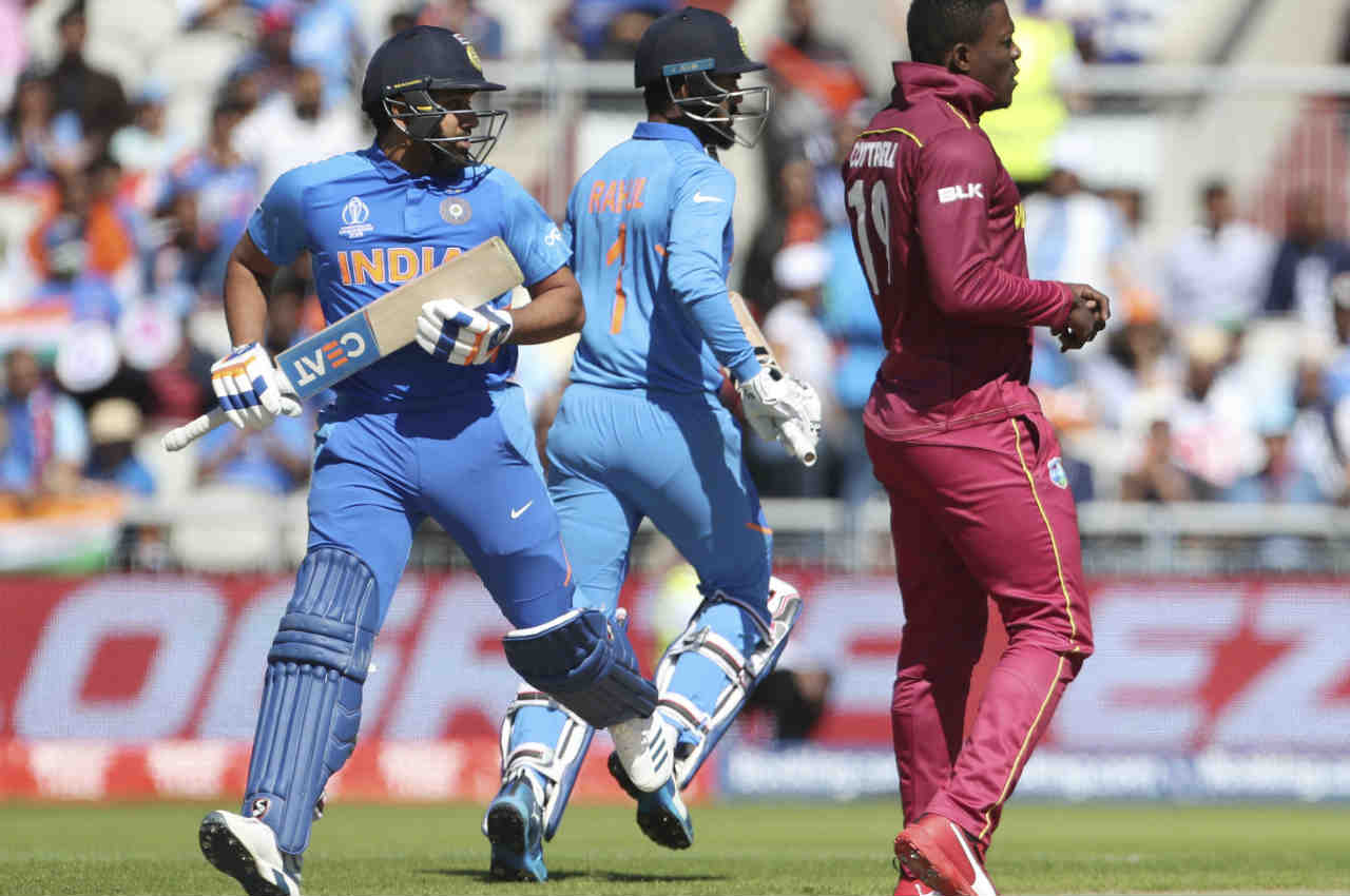 Indian opening pair of Rohit Sharma and KL Rahul started cautiously against the pace attack of Sheldon Cottrell and Kemar Roach. (Image: AP)