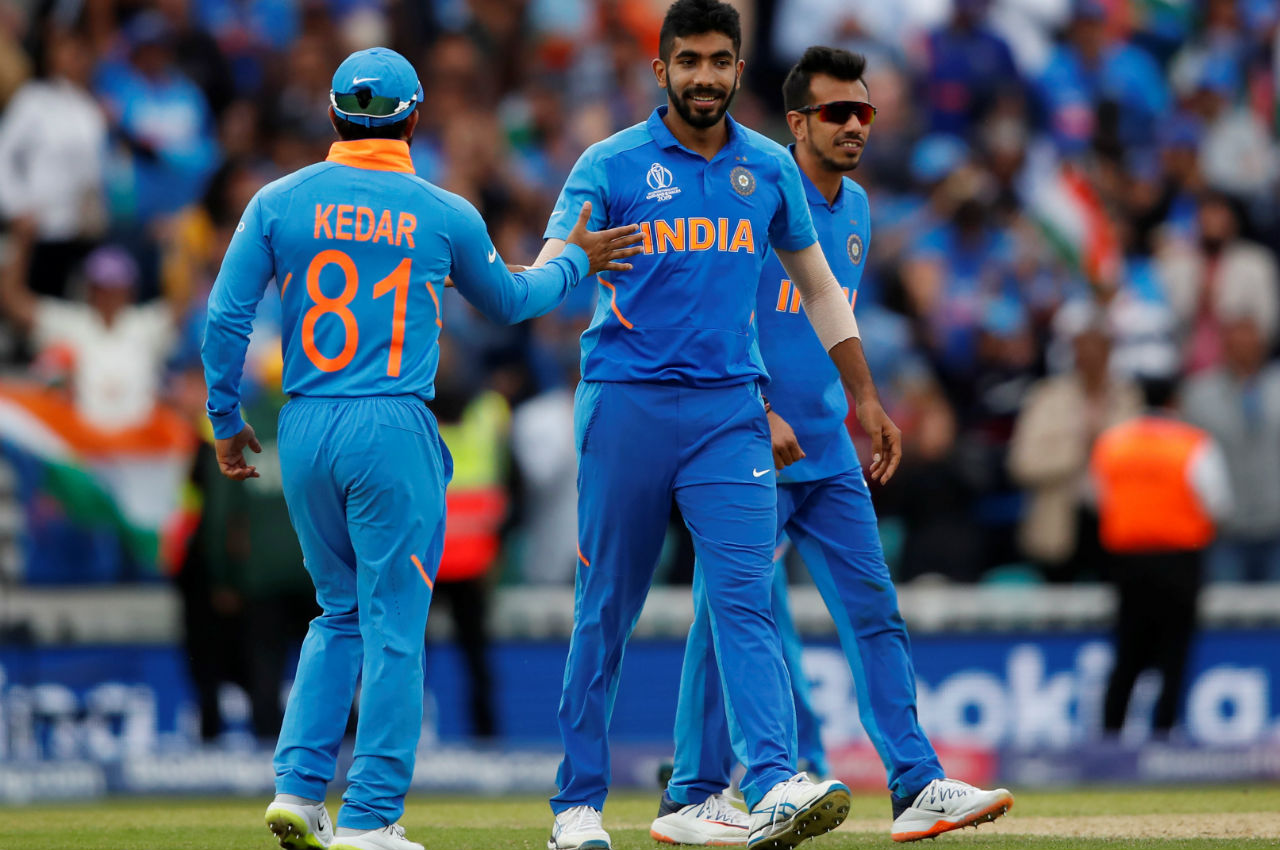 Bumrah took the wickets of Coulter-Nile and Starc in the 45th and 47th over respectively as Bhuvneshwar too the wicket of Adam Zampa on the last ball of the match as India sealed a comfortable 36-run win. (Image: Reuters)