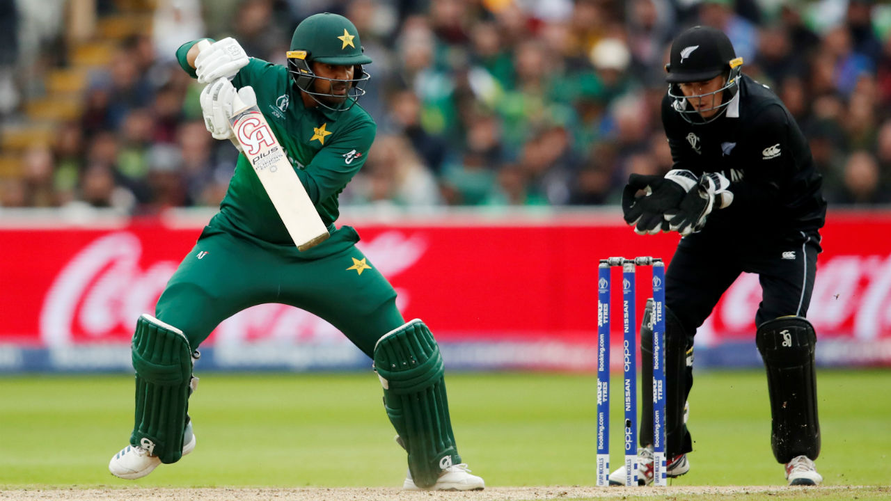 Batting at No.5 Harris Sohail struck a valuable fifty. Sohail was instrumental in striking a 126-run stand with Babar as Pakistan edged New Zealand out of the contest. Sohail was run-out in the 49th over after he scored 68 off 76. (Image: Reuters)