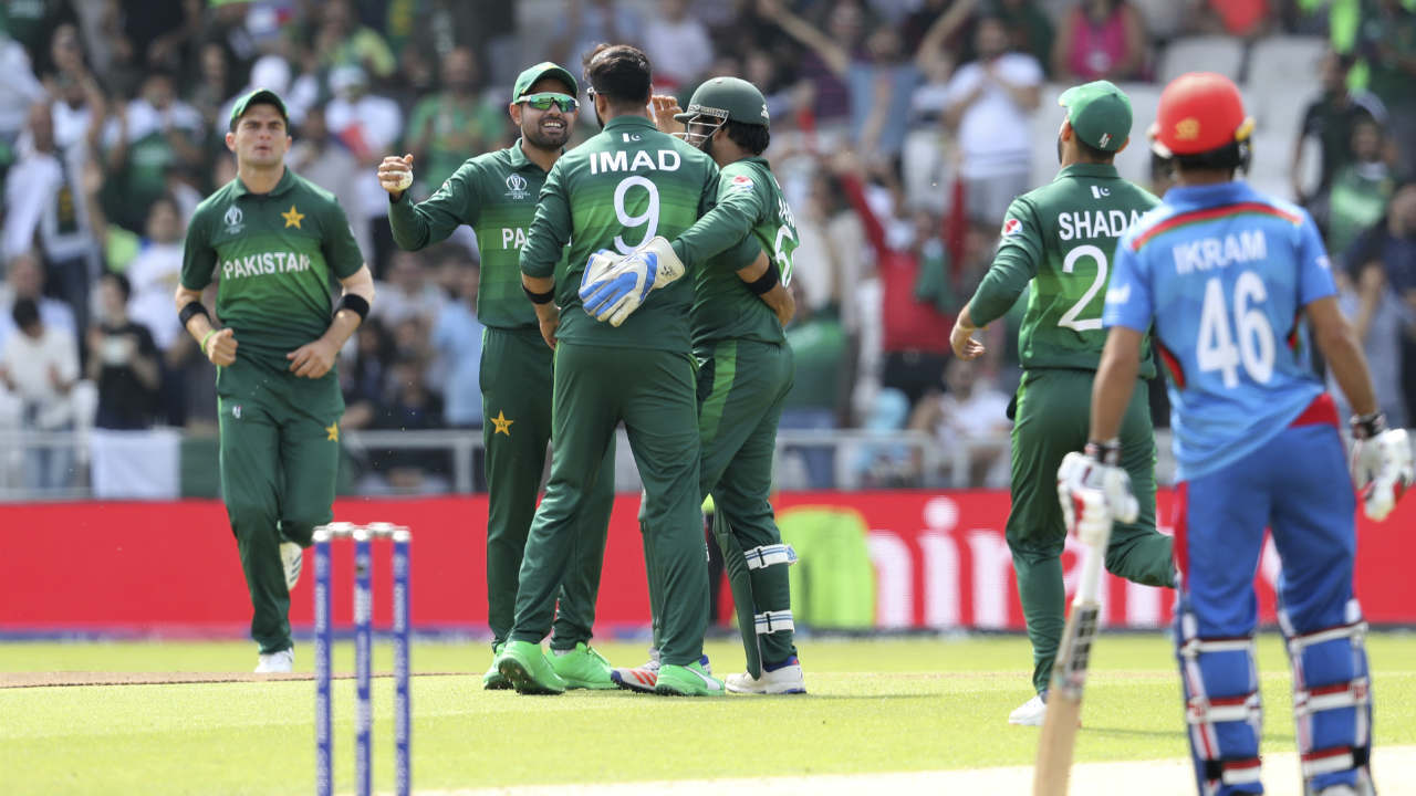 After losing those two early wickets, Rahmat Shah and Ikram Alikhil steadied the innings with a 30-run partnership. Ikram struggled to rotate strike adding just 3 runs to that stand. Rahmat who was batting well was finally caught out in the 12th over when he got a leading edge to an Imad Wasim delivery. Rahmat returned with 35 off 43 balls with Afghanistan struggling at 57/3. (Image: AP)