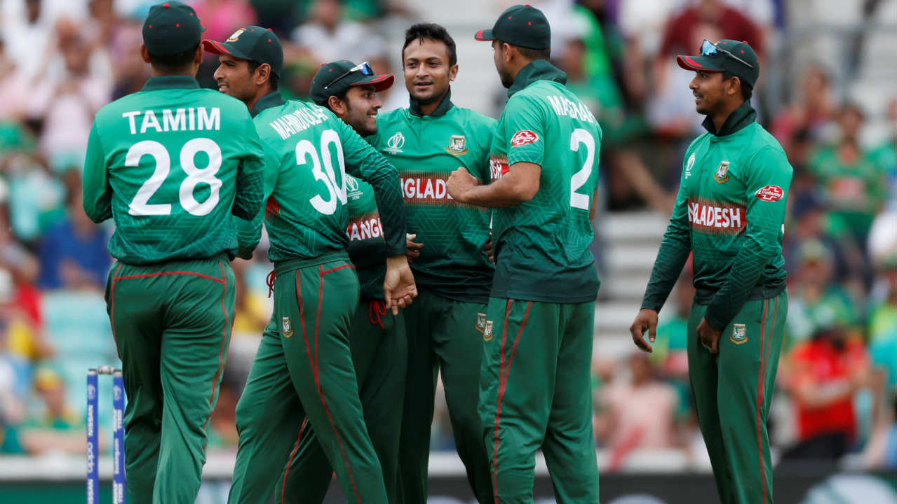 Faf du Plessis and Markram then added 53 runs for the second wicket. However, the partnership was broken by the experienced Shakib Al Hasan who got castled Markram in the 20th over. It was also Shakib's 250th ODI wicket. (Image: Reuters)
