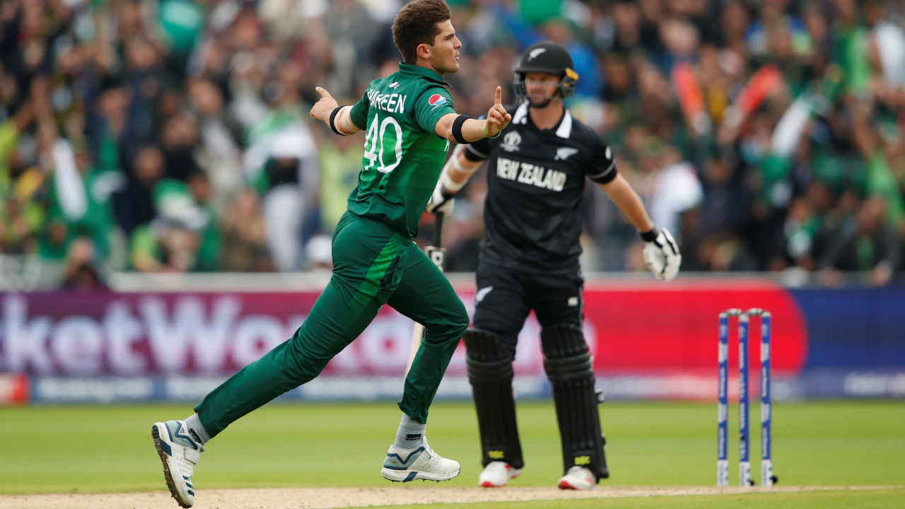 Shaheen Afridi then rocked the New Zealand batting line-up as he dismissed Colin Munro, Ross Taylor and Tom Latham in space of 6 overs. New Zealand were left struggling at 46/4. (Image: Reuters)