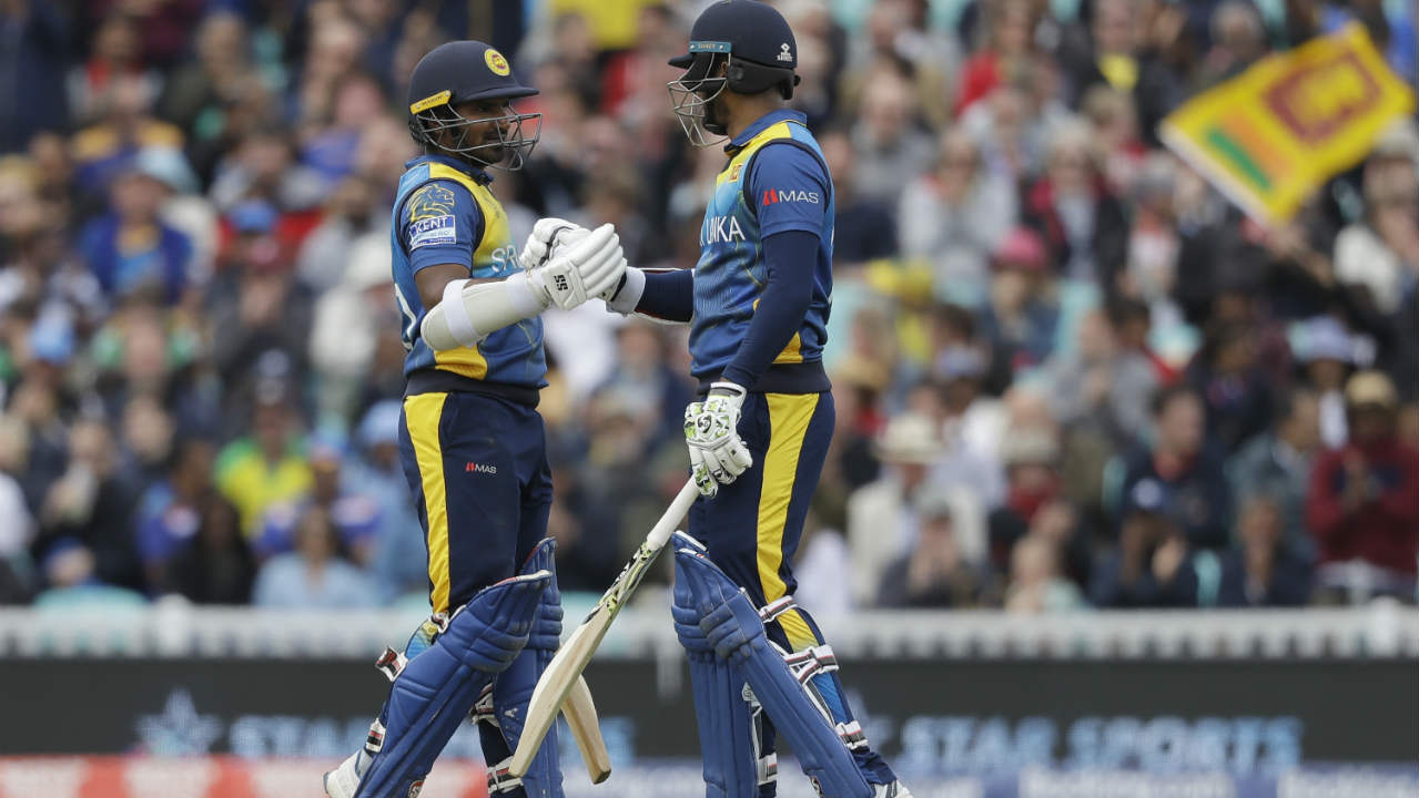 Dimuth Karunaratne and Kusal Perera got Sri Lanka off to a great start with a brilliant 115-run opening partnership off just 93 balls. Both batsmen brought up their half-centuries during the course of the partnership. (Image: AP)