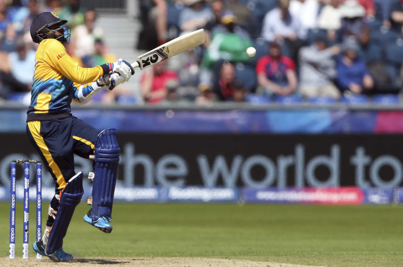 Thisara Perera gave his side some momentum lower down the order as he scored 21 off 25 balls before Andile Phehlukwayo dismissed him in the 46th over. (Image: Reuters)
