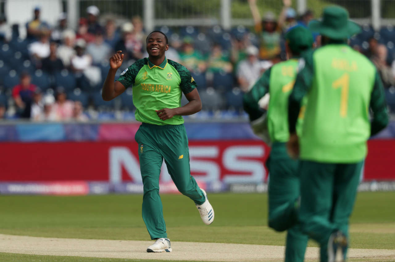 Kagiso Rabada gave the Proteas a flying start as he got Sri Lankan skipper Dimuth Karunaratne caught by Quinton de Kock off the very first ball of the match. (Image: Reuters)
