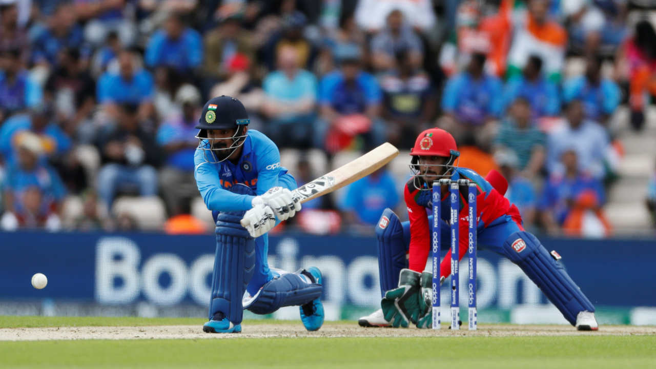 Rahul made 30 off 53 balls before he miscued his reverse-sweep on the second delivery of the 15th over against Mohammad Nabi and Hazratullah Zazai took an easy catch. (Image: Reuters)