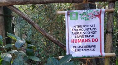 'Behave like animals': Anand Mahindra's tweet of a signboard against littering is on point