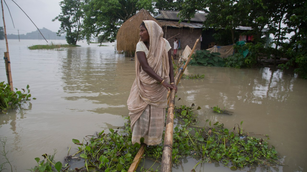 """""""As per the Met department forecast, there will be more rainfall across Assam and the water level in the Brahmaputra is likely to rise,"""" an official told media persons. Last year, the state had received Rs 590 crore from the Centre. """"We have sufficient funds in our hands and already released Rs 55.85 crore to the districts,"""" he said. (Image: AP)"""
