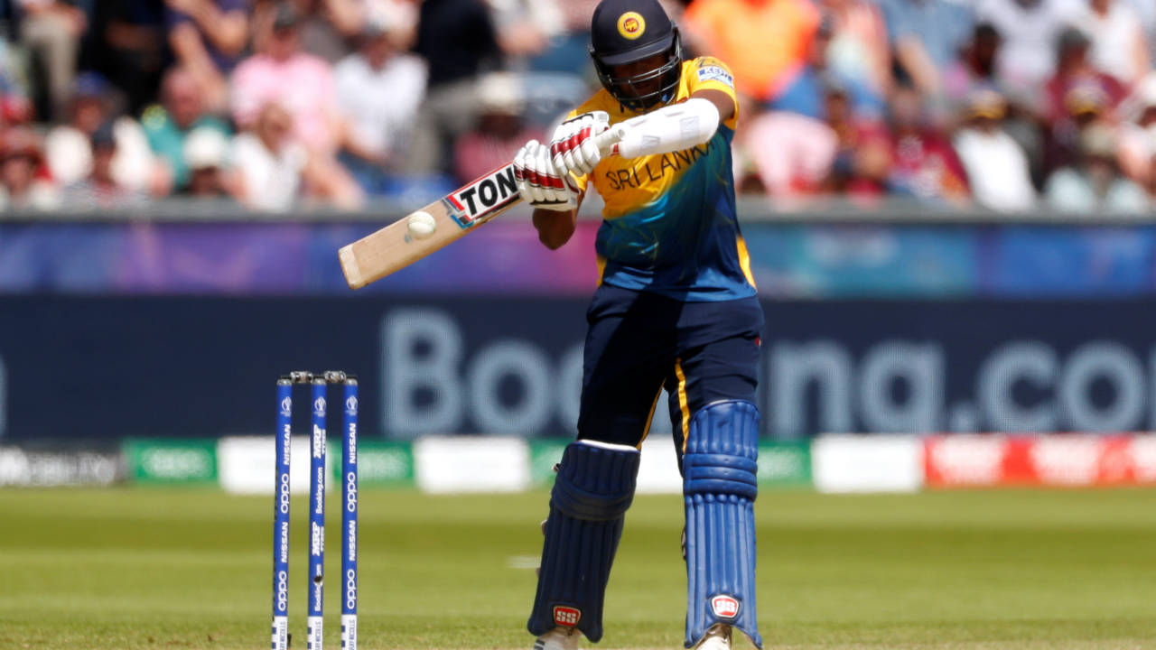 Avishka Fernando was sent in to bat at No. 3. The youngster played attractive shots all-round the park and kept the score board moving. (Image: Reuters)