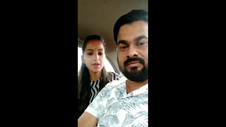 A screen grab of the video put out by BJP MLA's daughter. (Image: Twitter)
