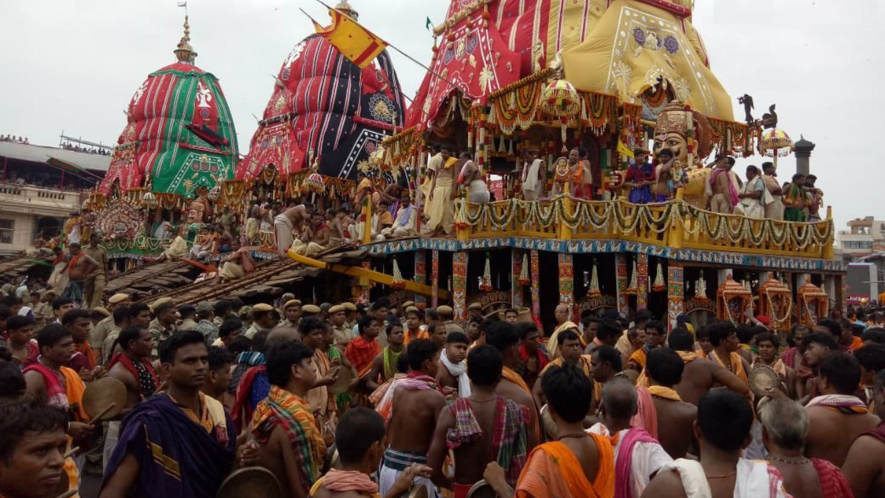 In Puri, which was ravaged by Cyclone Fani, elaborate arrangements have been made for the procession, officials said. (Image: DD National/Twitter)