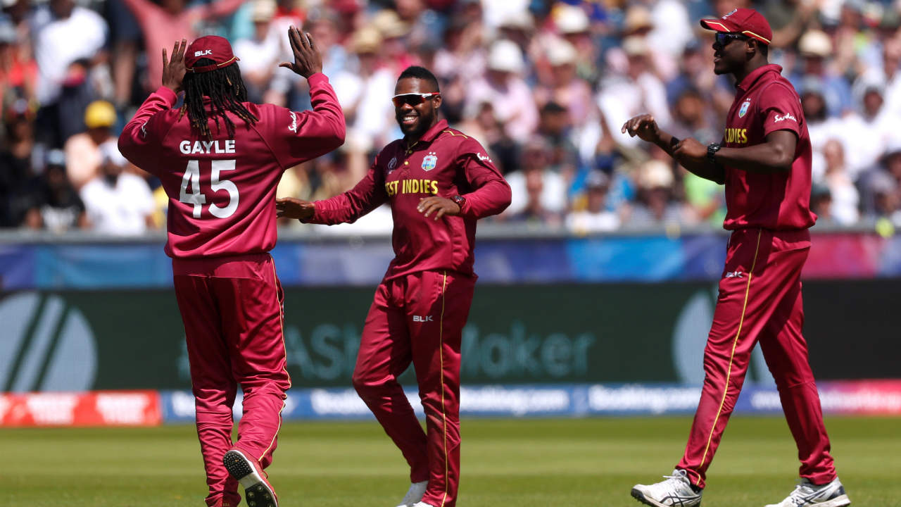 Kusal Mendis scored a steady 39 off 41 before Windies spinner Fabian Allen caught and bowled the Sri Lankan batsman in the 32nd over. Sri Lanka were 189/3. (Image: Reuters)