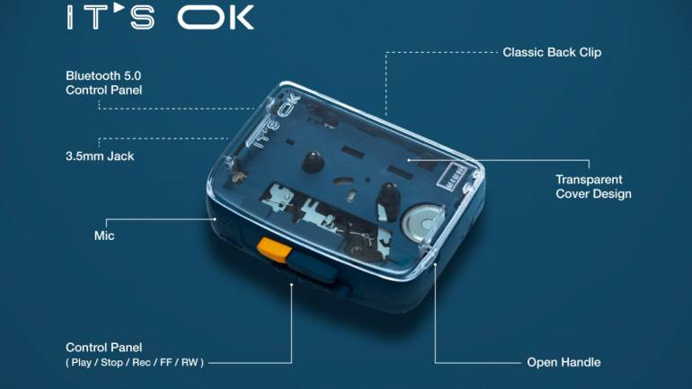 Hong Kong-based startup introduces wireless cassette player resembling Sony  Walkman