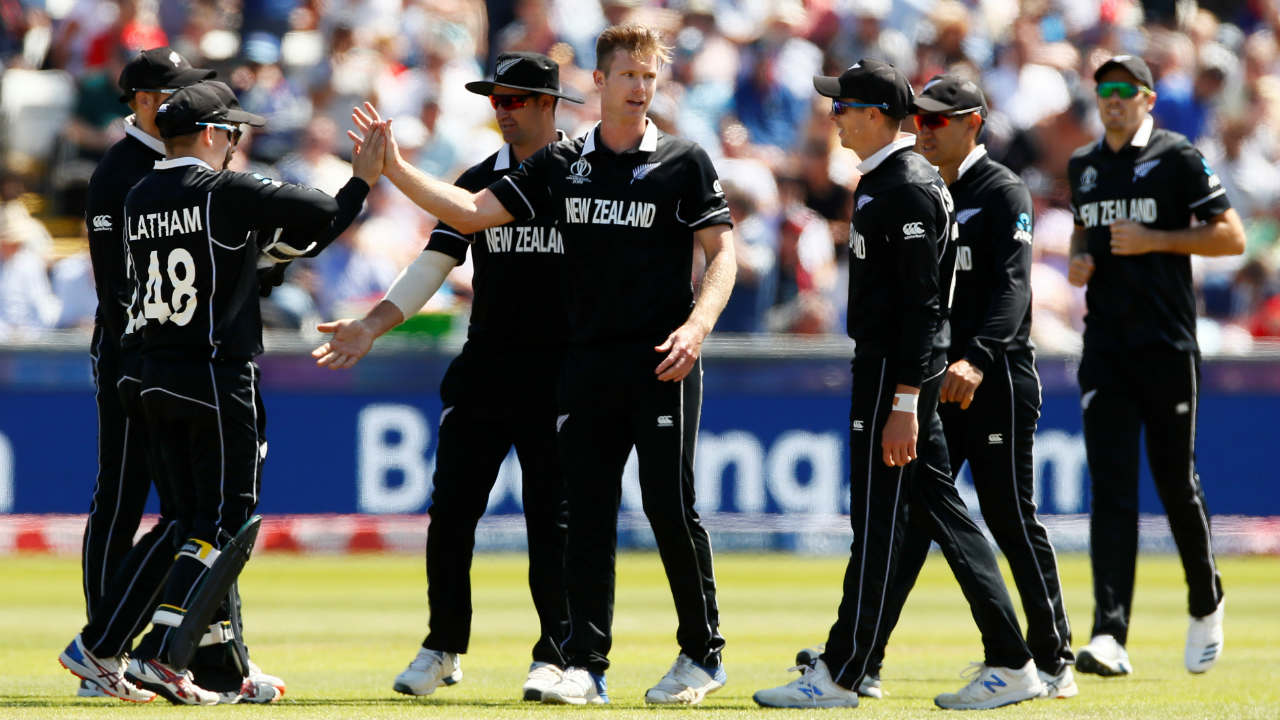 Neesham got his second wicket in form of Chris Woakes in the 45th over. From 206/3 England had slipped to 259/6. (Image: Reuters)