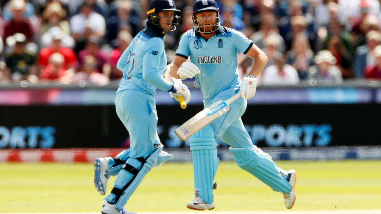 England openers Jonny Bairstow and Jason Roy gave their side a flying start yet again. The two batsmen put together a 123-run partnership during which Roy completed his second successive fifty. (Image: Reuters)